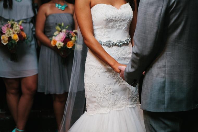 Aqua Eclectic Chic Seattle Wedding via TheELD.com