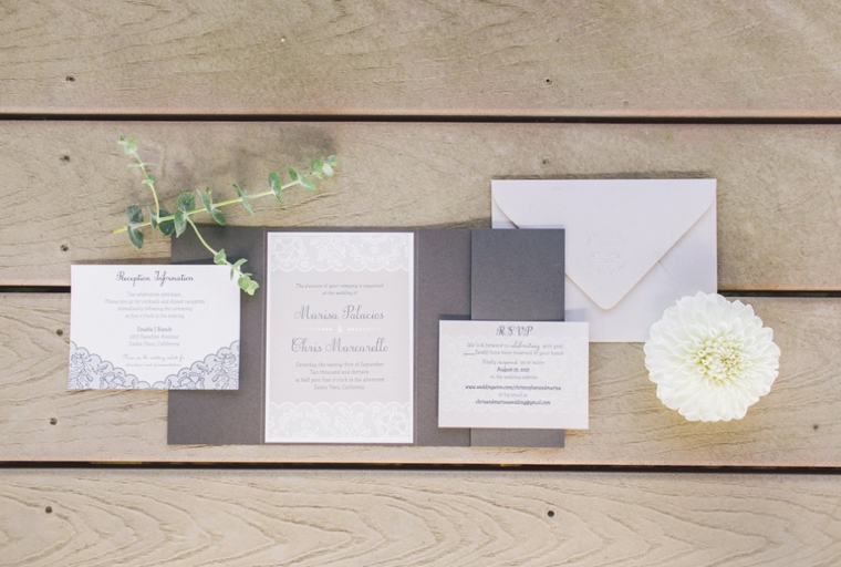 Elegant Gray and White Santa Ynez Wedding | Every Last Detail