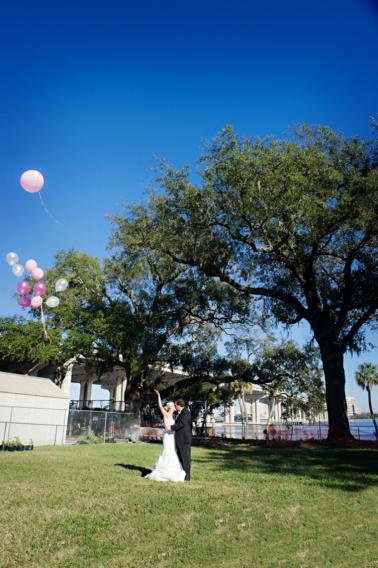 Elegant Hot Pink and Green Wedding via TheELD.com