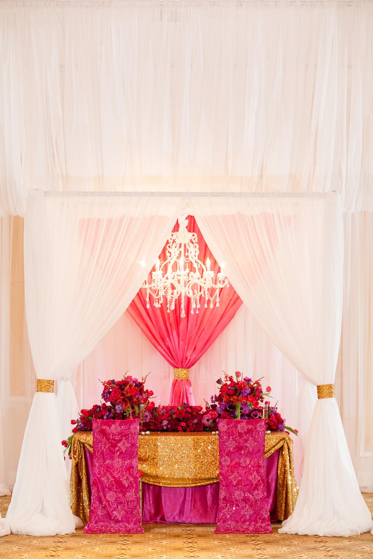 Glamorous Pink and Red Wedding Ideas via TheELD.com