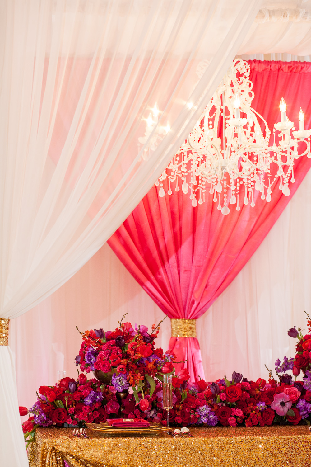 Glamorous Pink and Red Wedding Ideas | Every Last Detail