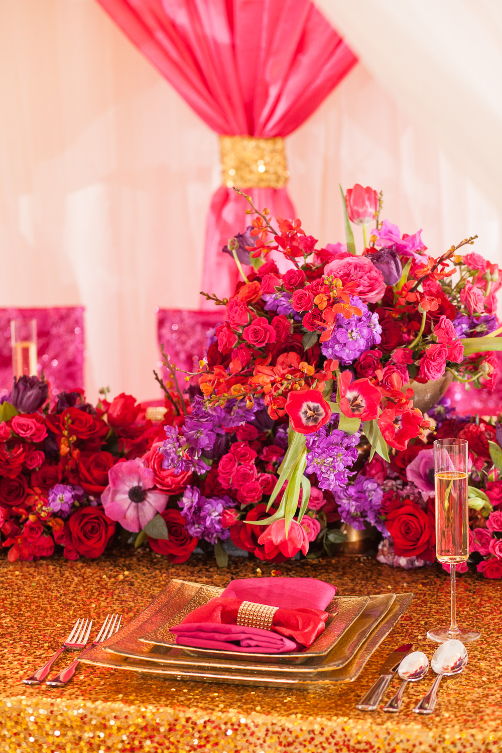 Glamorous Pink And Red Wedding Ideas Every Last Detail