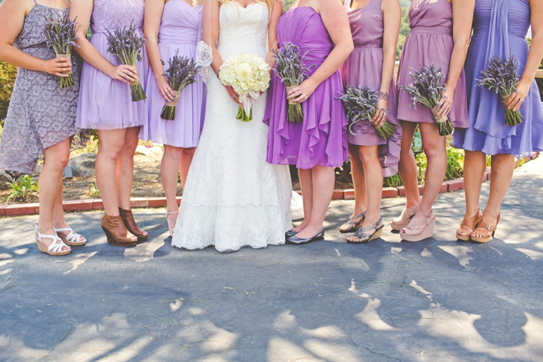 Rustic Lavender and White Wedding via TheELD.com
