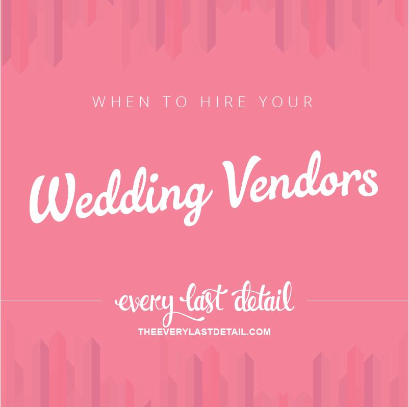 When To Hire Your Wedding Vendors via TheELD.com