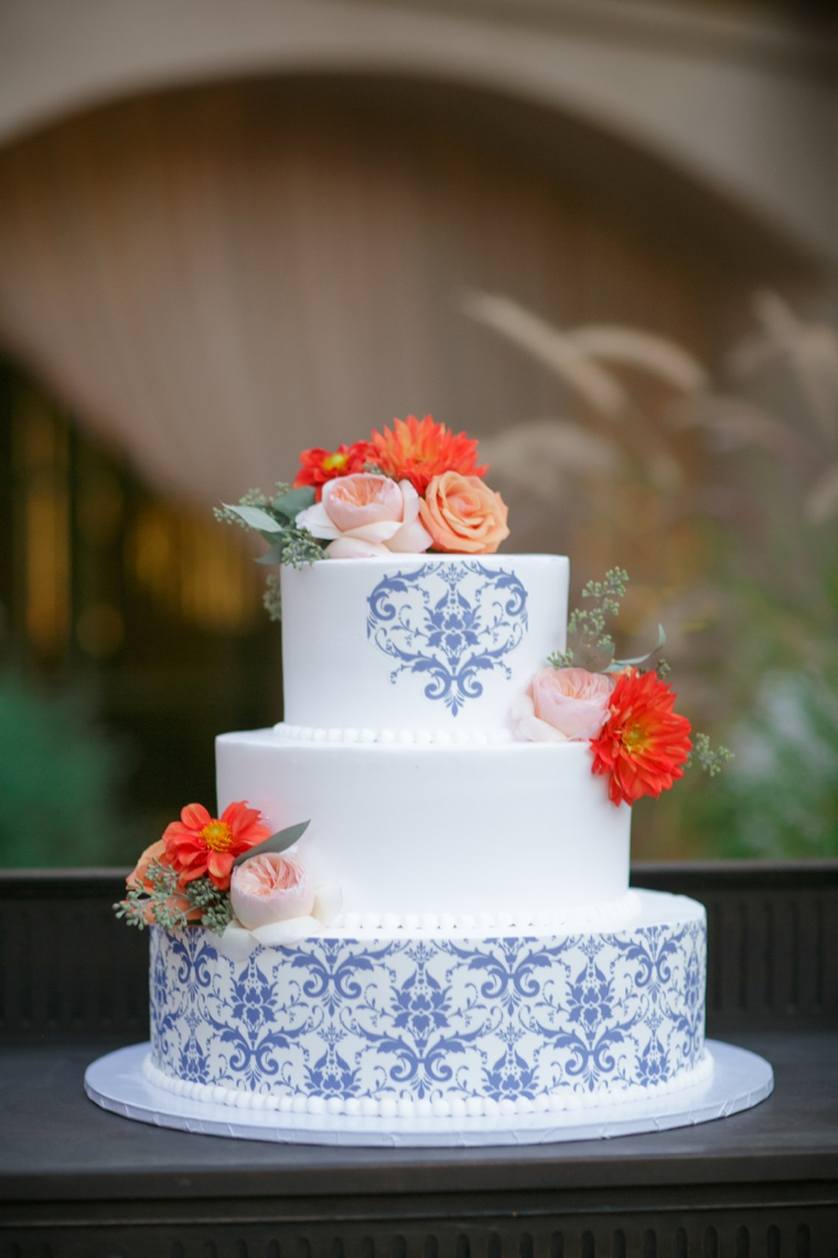 mexico themed wedding cake a cobalt blue inspired wedding every last detail 17327