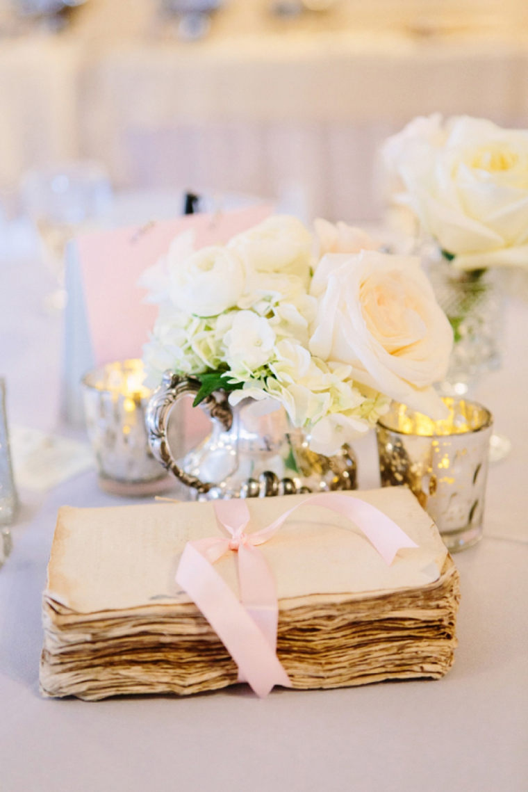 A Vintage Blush and Silver Wedding via TheELD.com