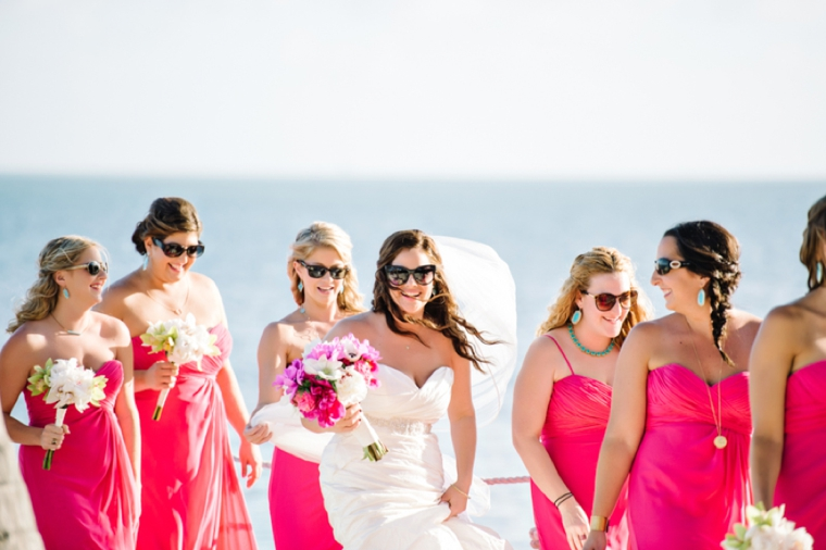 A Beach Chic Pink and Yellow Wedding via TheELD.com