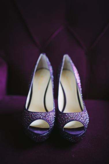 A Purple Vintage Eclectic Florida Wedding via TheELD.com
