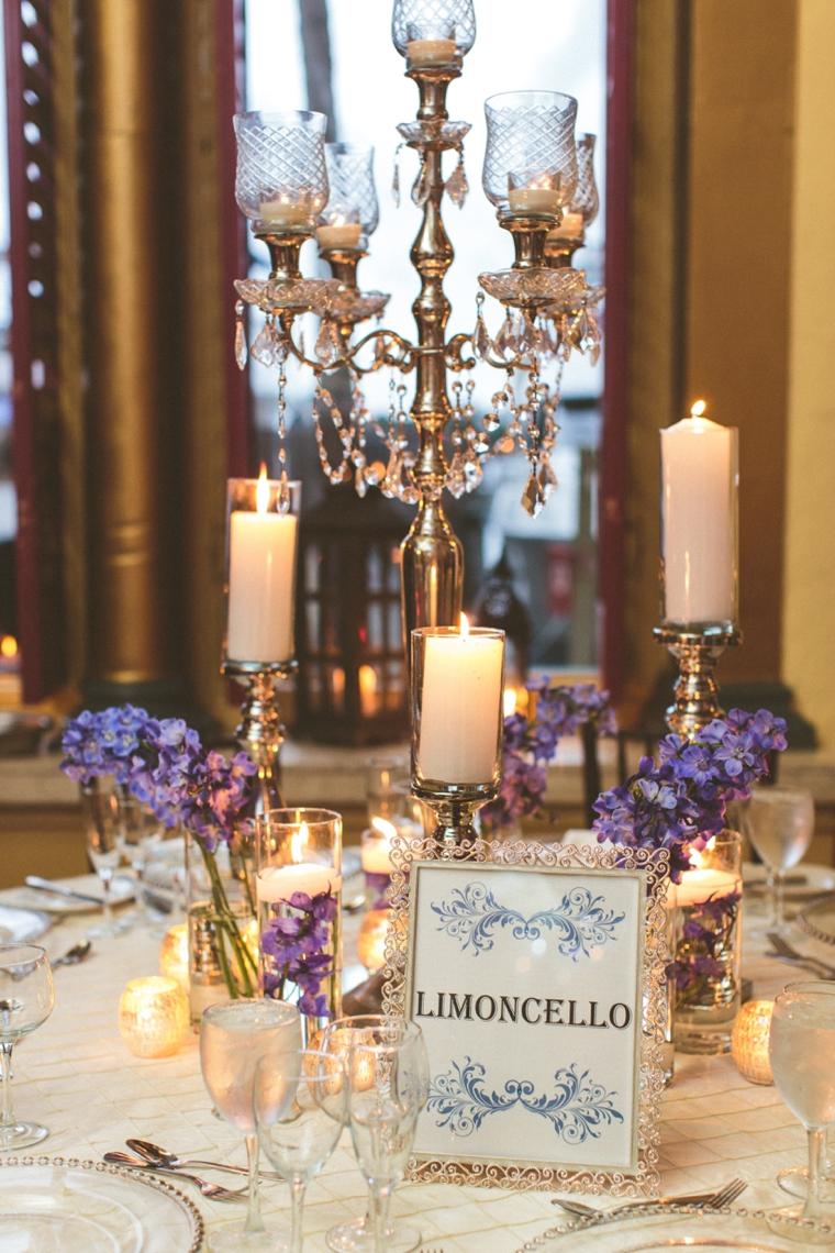 Glamorous Champagne & Blue Wedding via TheELD.com