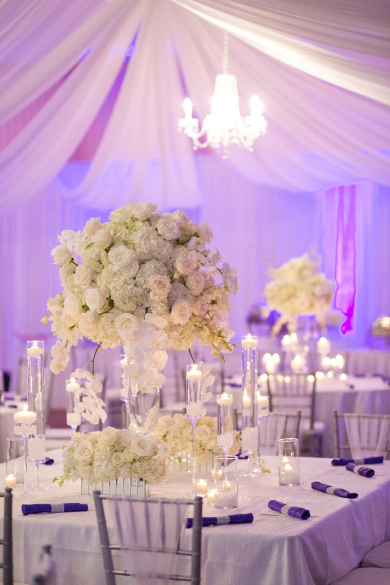wedding decorations in purple an purple and white wedding every last detail 9123