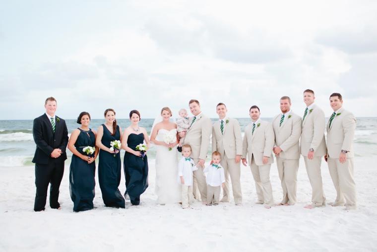 Modern Navy and Green Beach Wedding via TheELD.com