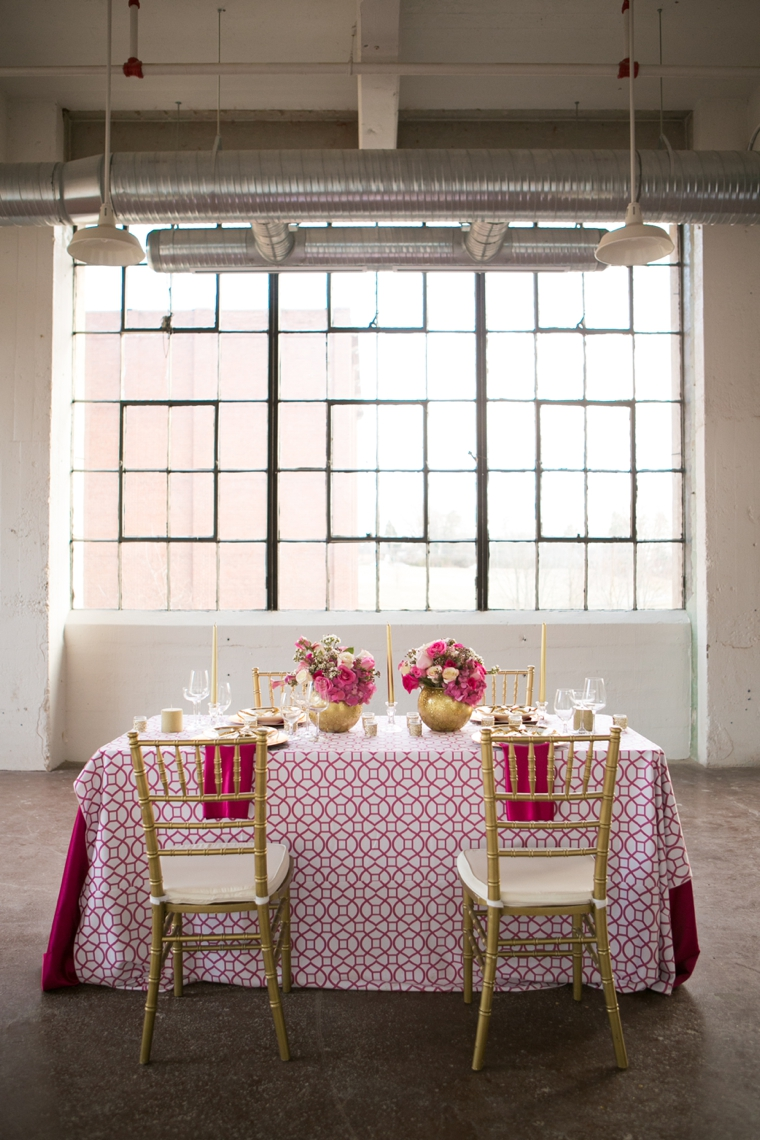 Modern Chic Pink and Gold Wedding Ideas via TheELD.com