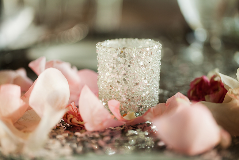 Classic Pink and Silver Bahamas Destination Wedding via TheELD.com