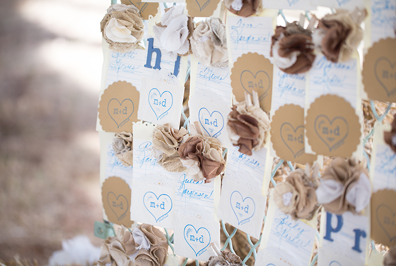 Vintage Eclectic Blue & Gold Missouri Wedding via TheELD.com