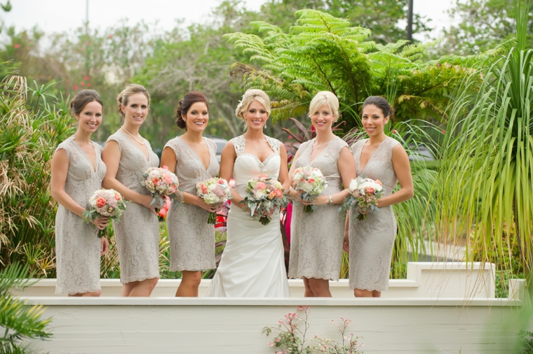 Vintage Peach Florida Wedding via TheELD.com