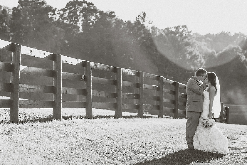 Rustic Yellow & Gray Kentucky Farm Wedding via TheELD.com