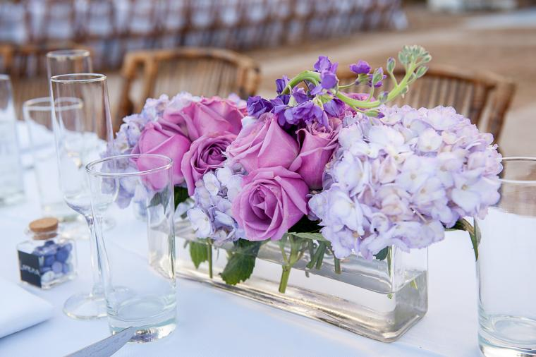 Classic Lavender and Gold Florida Wedding via TheELD.com