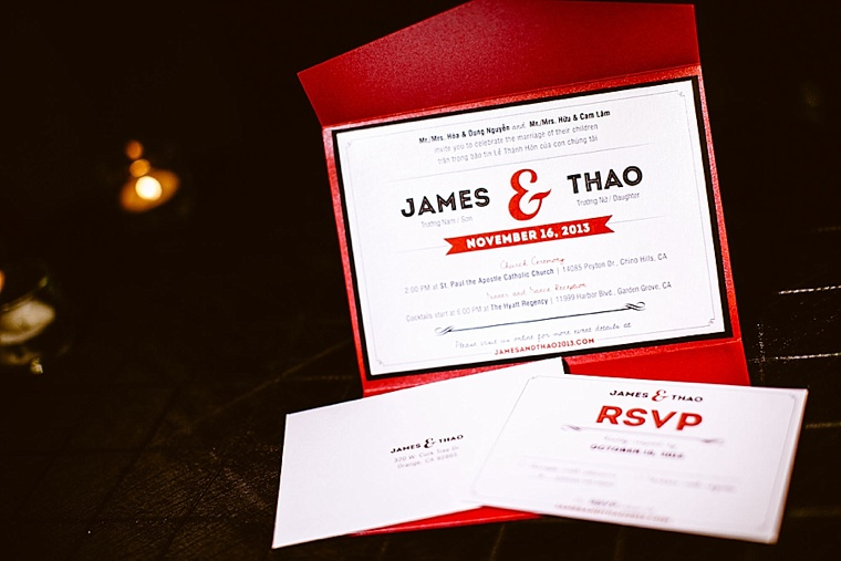 A Classically Chic Red and Black Wedding via TheELD.com