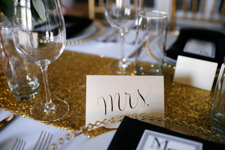 Modern Black and Gold Wedding Ideas via TheELD.com