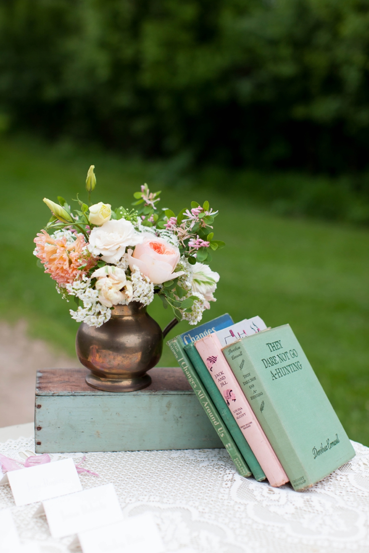 Vintage Shabby Chic Wedding Inspiration via TheELD.com