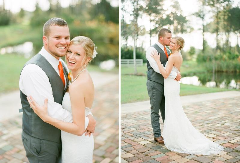 Rustic Navy & Orange Florida Wedding via TheELD.com
