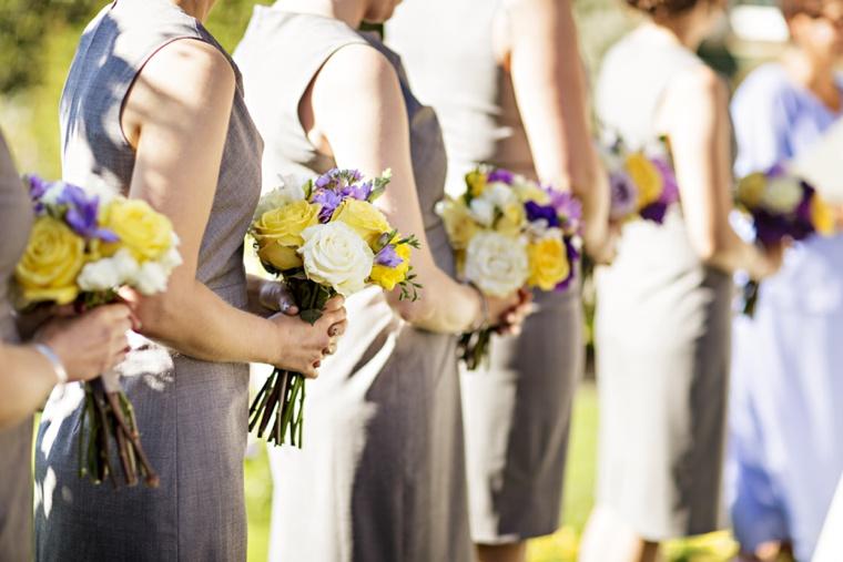 A Purple and Yellow Garden Wedding  via TheELD.com