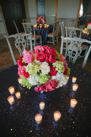 Modern Chic Pink and Navy Wedding via TheELD.com