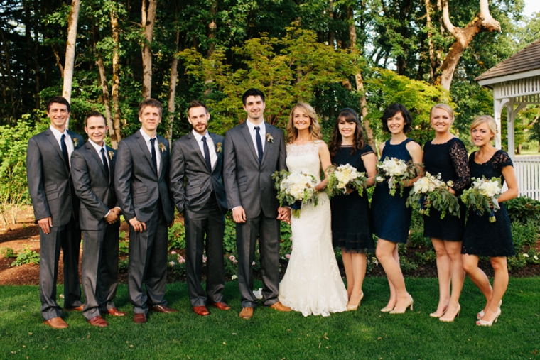 A Classic Navy and Gold Washington Wedding via TheELD.com