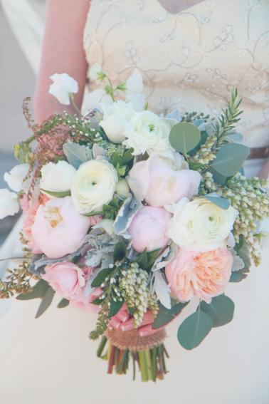 Nature Inspired Pink, Peach, & Green Florida Wedding via TheELD.com