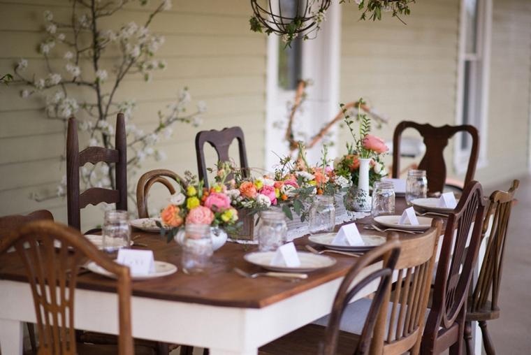 Charming Pink and Peach Wedding Inspiration via TheELD.com