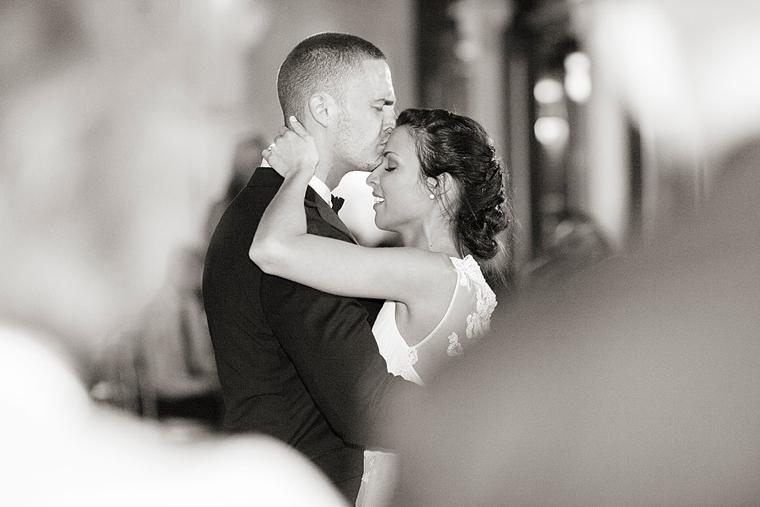 Romantic Blush and Gold Wedding via TheELD.com