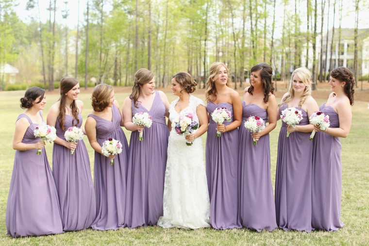 Romantic Lavender Alabama Wedding via TheELD.com