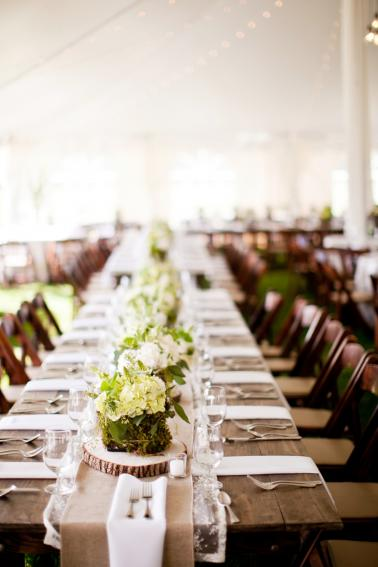 A Rustic Green & White Southern Wedding via TheELD.com
