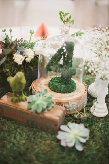 Rustic Peach and Green Farm Wedding via TheELD.com