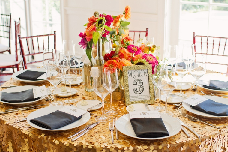 A Colorful Great Gatsby Inspired Wedding via TheELD.com