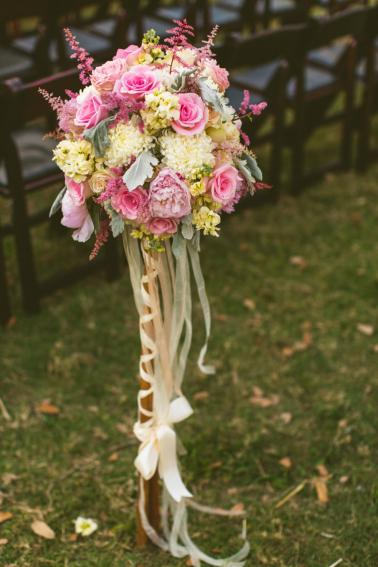 A Romantic & Vintage Garden Wedding via TheELD.com