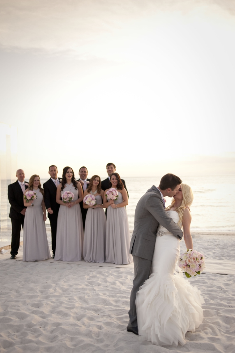 A glamorous silver blush beach wedding every last detail for Wedding party ideas