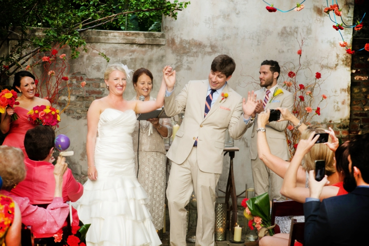 A Colorful New Orleans Garden Wedding via TheELD.com