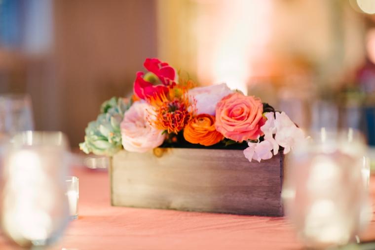Eclectic Aqua and Coral Beach Wedding  via TheELD.com