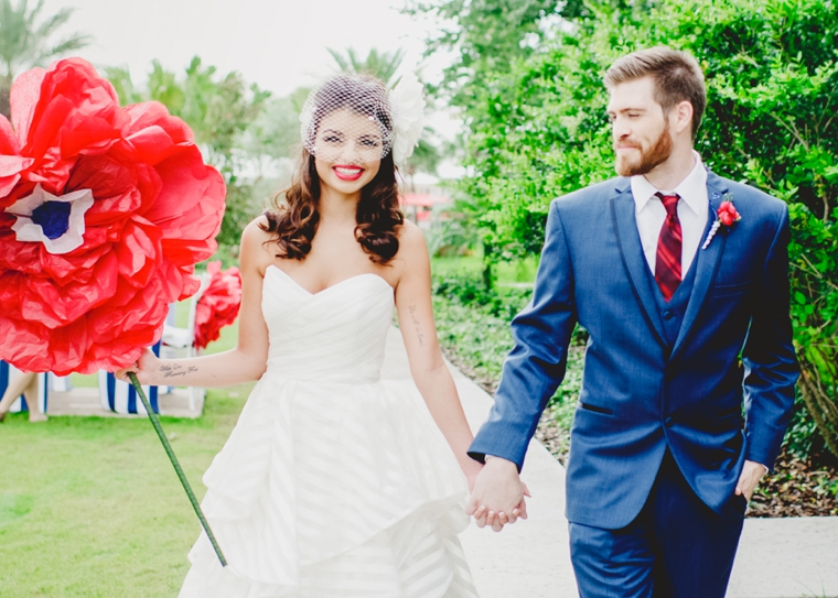 Eclectic Red White And Blue Wedding Ideas Every Last Detail