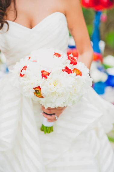 Eclectic Red, White, and Blue Wedding Ideas via TheELD.com