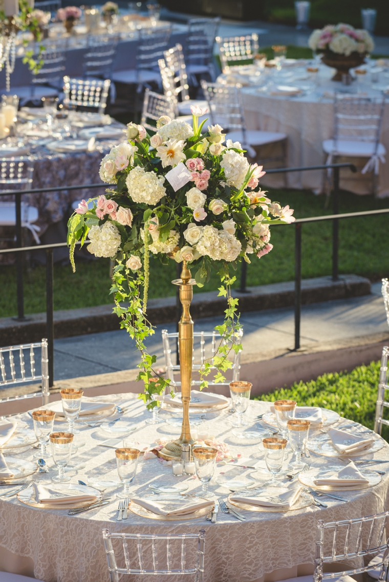 Romantic Champagne and Blush Wedding via TheELD.com