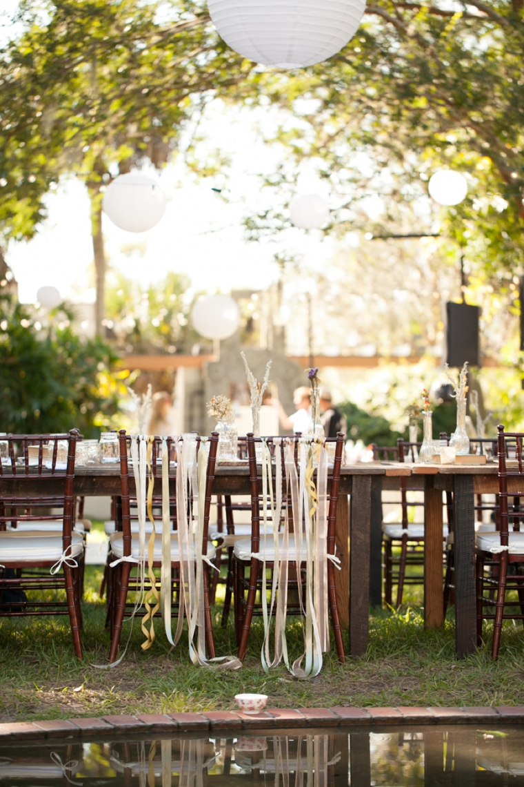 Rustic & Eclectic Garden Wedding via TheELD.com