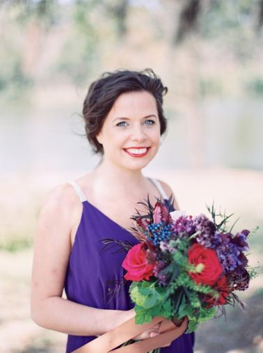 Sophisticated Burgundy & Plum Southern Wedding Inspiration via TheELD.com