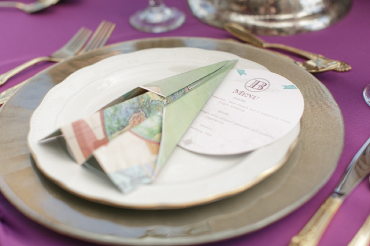 Vintage Modern Travel Inspired Wedding Ideas via TheELD.com