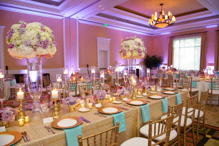 Chic Gold, Aqua, and Lavender Wedding | Every Last Detail