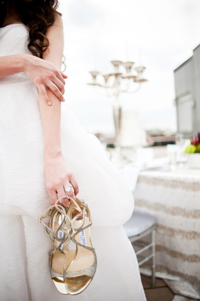 Modern Silver and Gray Wedding Inspiration via TheELD.com