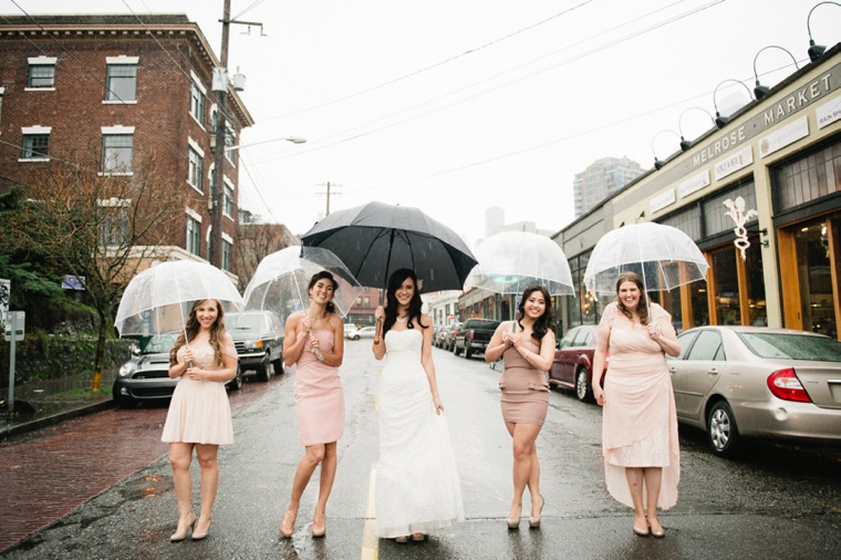 Romantic Chic Blush & Gold Seattle Wedding  via TheELD.com