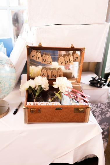 Pink & Orange Vintage Travel Themed Wedding via TheELD.com