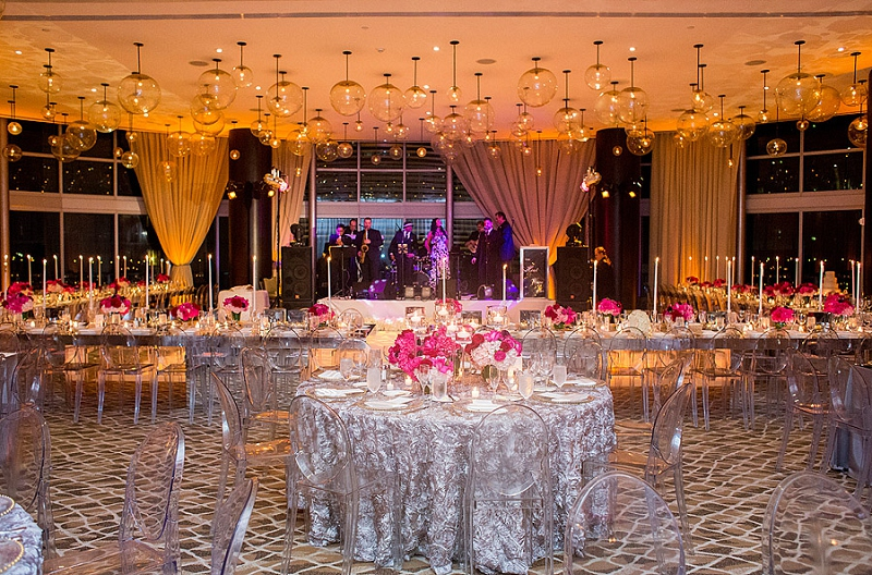Modern Chic Pink & Gold Miami Wedding via TheELD.com